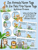 Zoo Animals Name Tags & Zoo Field Trip Name Tags