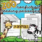 Zoo Animals - Non-Fiction, No Prep, Leveled Passages + graphic organizers