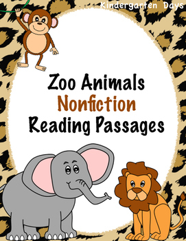 Zoo Animals Nonfiction Reading Passages