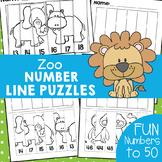 Zoo Animals Number Line Puzzles