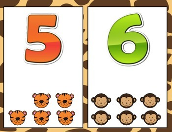 Jungle Animals Number Posters