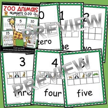 Zoo Animals Numbers 0-20