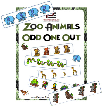 Zoo Animals Odd One Out | Worksheets