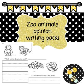 Zoo Animals Opinion Writing Prompts