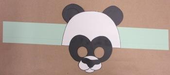 Zoo Animals Panda Sentence Strip Hat Mask