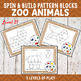 Zoo Animals Pattern Blocks Spin and Build