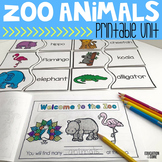 Zoo Animals Activities | Zoo Animals Reading
