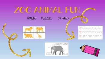 Zoo Animals Pre-Writing