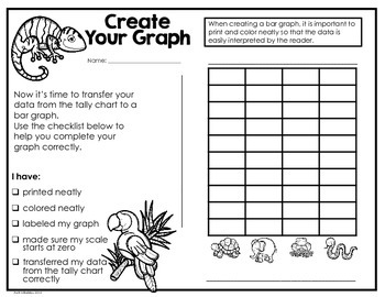 Zoo Animals Probability/Graphing Activity: Hands-On Math for 2nd/3rd Grade