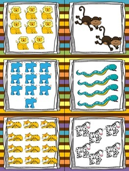 Zoo Animals Read, Write, and Count the Room {Literacy and Math} {CCSS}