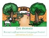 Zoo Animals Receptive/Expressive Language Packet