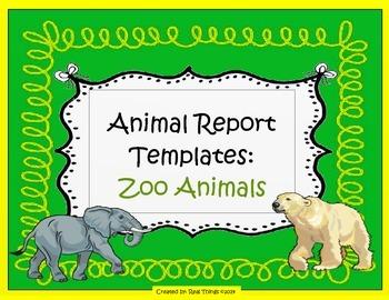 Zoo Animals Report Templates
