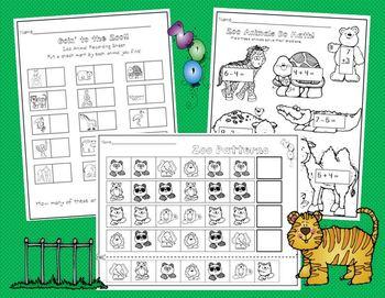 Zoo Animals in Kindergarten  *Science, Literacy and Math Activities*