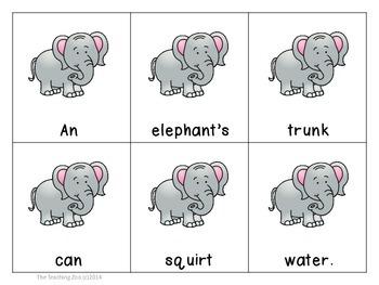 Zoo Animals Scrambled Sentences