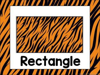 Zoo Animals Shape Posters {Jungle Safari Theme}