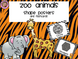 Zoo Animals Shape Posters {Jungle Safari Theme}