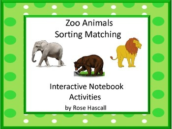 Zoo Animals Interactive Notebook Activities Special Education Autism Resources