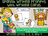 Zoo Animals Spanish Writing Prompts & Writing Cards Can Be