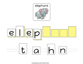 Zoo Animals Spelling Books (Adapted Books)