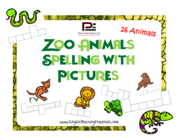 Zoo Animals Spelling with Pictures | Worksheet