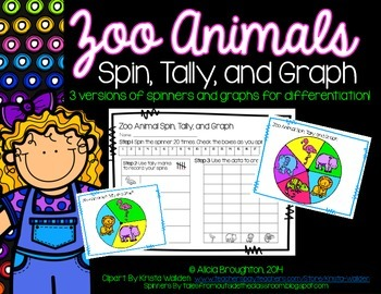 Zoo Animals: Spin, Tally & Graph
