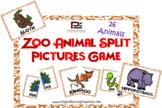 Zoo Animals Split Pictures | Fun Matching Game