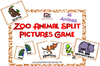 Zoo Animals Split Pictures | Fun Matching Game