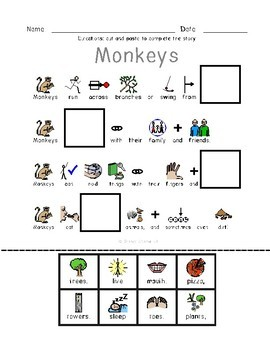 Zoo Animals  - Symbol Supported Reading Comp for Special Ed #homepacket