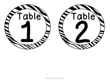 Zoo Animals Table Numbers {Jungle Safari Theme}