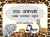 Zoo Animals Table Numbers {Jungle Safari Theme}