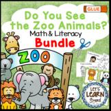 Zoo Animals Math and Literacy Activities Bundle