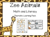 Zoo Animals Theme MEGA Learning Pack