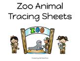 Zoo Animals Tracing Sheets