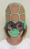 Zoo Animals Turtle Sentence Strip Hat Mask