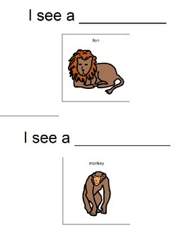 Zoo Animals Vocabulary Booklet