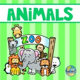 Zoo Animals Vocabulary Word Cards