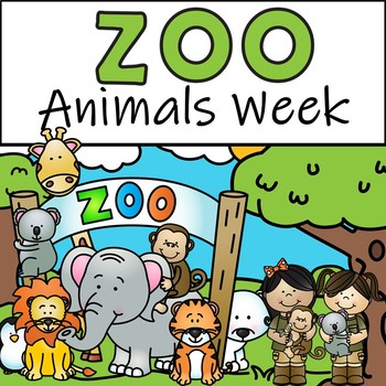 Zoo Animals Week - Literacy and Math Centers, Worksheets, Puzzles, and More!