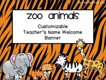 Zoo Animals Welcome Banner {Jungle Safari Theme}
