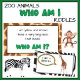 Zoo Animals Who Am I Riddles   Virtual Brain Break