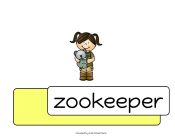 Zoo Animals Word Books (Adapted Books)
