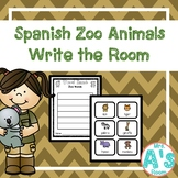 Zoo Animals Word Hunt/Write the Room in Spanish