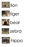 Zoo Animals Word Wall