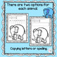 Zoo Animals Write and Color Pages