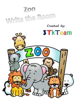 Zoo Animals Write the Room