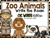 Zoo Animals Write the Room - CVC Edition