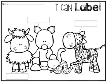Zoo Animals Writing Center
