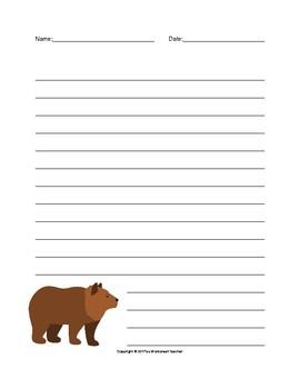 Zoo Animals Writing Paper Set