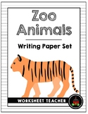 Zoo Animals Writing Paper Set