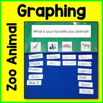 Zoo Animal Graphing Card Math Center
