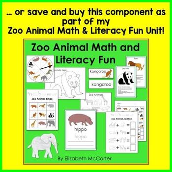 Zoo Animal Board Game Math Center
